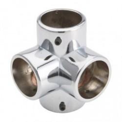 Narożnik czterokierunkowy - Ø 25 chrom SZAC9860CR