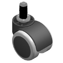 Kółko fotelowe Φ50 guma b/hamulca z osią Φ8, tuleja tworzywo Φ13 KOL79.2