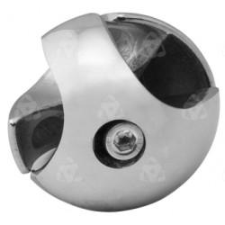 Złącze dwukierunkowe prawe  - Ø 25 chrom SZTR501PCHR
